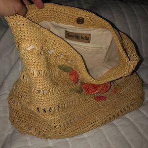 Anthropology appliqué purse